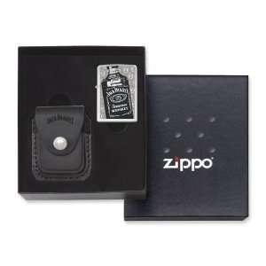 Zippo Jack Daniels Lighter/Pouch Gift Set High Polish