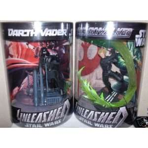 Star Wars Unleashed Luke Skywalker Jedi & Darth Vader Wal