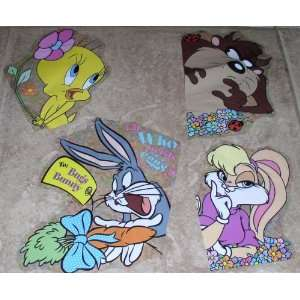Looney Tunes Bugs Bunny Easter Spring Window Clings   Set of 4   Bugs