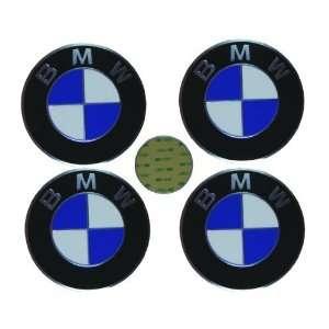 4 BMW Genuine OEM Wheel Center Cap Emblem Decal Sticker