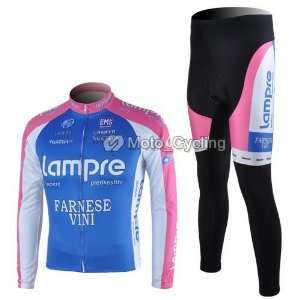 new lampre team long sleeve cycling bicycle/bike/riding jerseys+pants