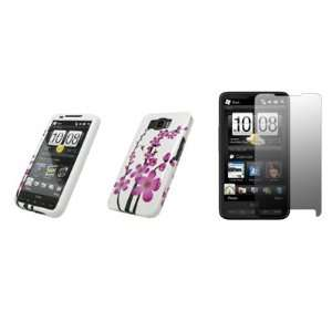 HTC HD2   Premium Pink and White Spring Flowers Design