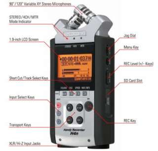 Zoom H4n Handy Digital 4 Track Recorder   NEW