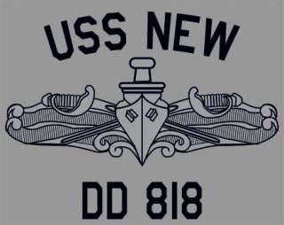 US USN Navy USS New DD 818 Destroyer T Shirt