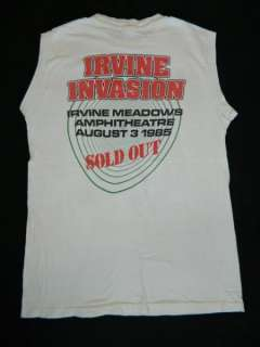 1985 RATT IRVINE INVASION VTG CONCERT T SHIRT ONE DATE ONLY TOUR