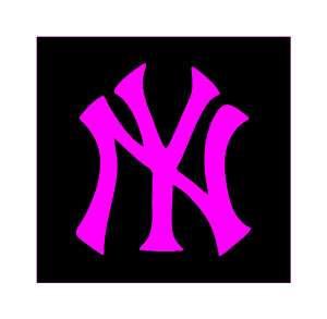 New York Yankees NY PINK logo, Sticker 2 #42