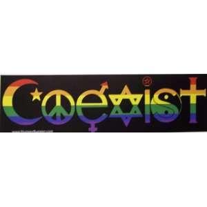 3x11 Hippie Pride Peace Love Coexist Stickers Art Decals