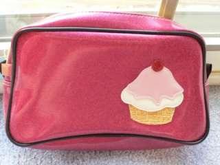 Paul Frank Pink Sparkle Cupcake Cosmetics Case Bag NWT