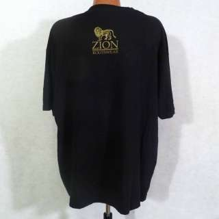 Zion Rootswear BOB MARLEY Legend Photo Reggae Black T Shirt Sz 2XL