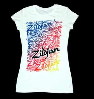 Zildjian Cymbals Womens Graffiti Tee T Shirt M L XL