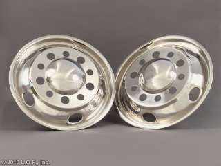 Universal 22.5 x 8.25 Stainless Dually Wheel Simulators Liners 10 Lug