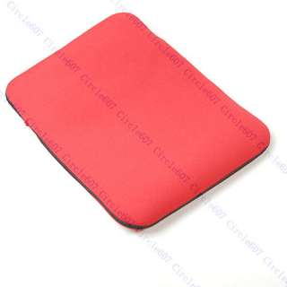 Soft Red Sleeve Case for 10 inch DELL Laptop Notebook
