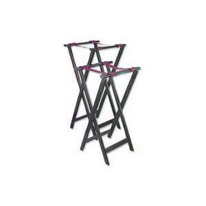 Tray Stand Wood 31.5High (WTS 32) Category Service