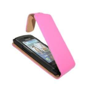 iTALKonline PREMIUM LEATHER PINK Clip On Flip Case/Cover
