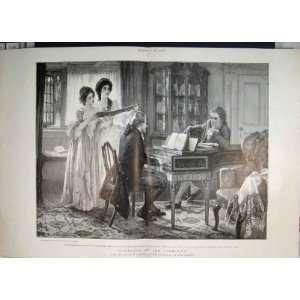 Lindleys Piano Girls Singing Music Antique Art