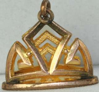 VICTORIAN ANTIQUE GOLD FILLED WATCH FOB CHARM PENDANT