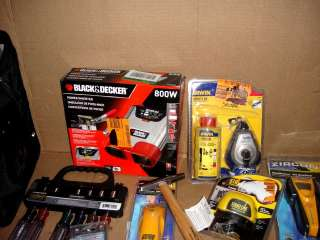 WHOLESALE LOT ASSORTED HAND TOOLS AND TOOL ACCESSORIES
