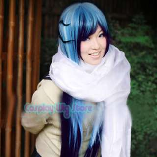 Nurarihyon No Mago Yuki Onna Long Mix Blue Cosplay Wig On Popscreen