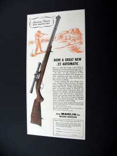 Marlin Model 99 22 Rifle .22 gun 1961 print Ad