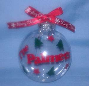 fillable unbreakable Christmas Ornament   you can design your own