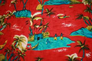 Hawaiian Vtg Shirt Squire of California  Rayon size L