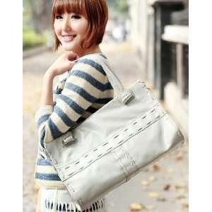 PU Woven Leather Purse Shoulder Bag Handbag Tote Satchel Women Fashion