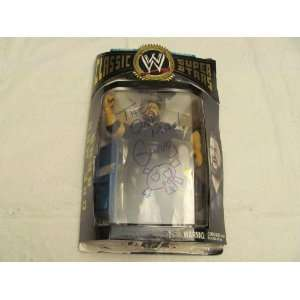 AUTO SIGNED WWE CLASSIC COLLECTOR SERIES ONE MAN GANG ACTION FIGURE