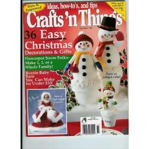 com Crafts N Things, November 1998 Issue Sew A Classic Angel, Beanie