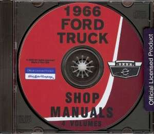 FORD 1966 Bronco & F100 thru F350 Truck Shop Manual CD