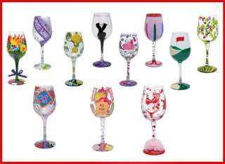 LOLITA Hand Painted Wine Glass, Gift Boxed. Unique Gift