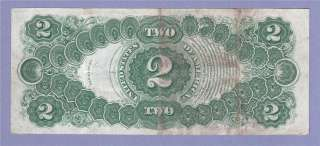 Fine + 1917 Two Dollar Bill Legal Tender United States Note $2