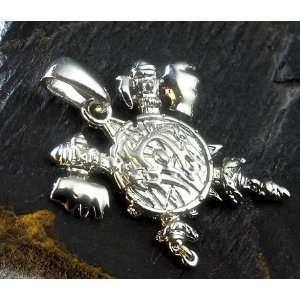 WOW Orc Badge Pendant Necklace White Gold Plated   World