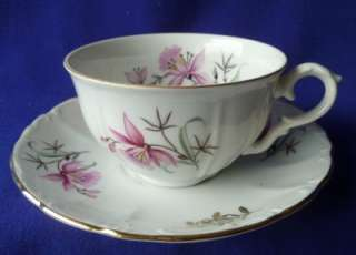 Fine Bohemian China Czechoslovakia CUP & SAUCERS SETS