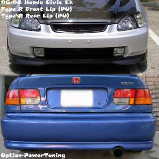 96 98 Honda Civic PU Type R Front lip + Type R Rear Lip 2Dr JDM