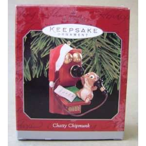 Hallmark Keepsake Chatty Chipmunk Christmas Tree Ornament