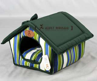 pet dog/cat beds kennel doghouse doghole cute green S