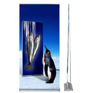Banner Stand with Replaceable Full Color Graphic