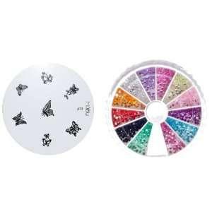 MoYou Nail Art Image Plate A52+ Rhinestone Pack 1200 premium quality