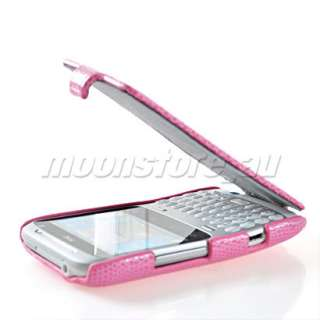 FLIP HARD BACK CASE COVER + SCREEN PROTECTOR FOR HTC CHACHA A810E G16