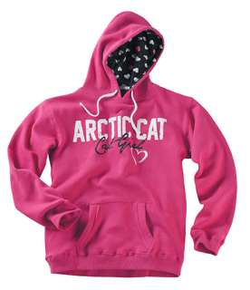 NWT 2012 ARCTIC CAT Hearts Hot Pink Hoodie~XLG~5223 246