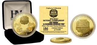 Alabama Crimson Tide 2012 BCS Championship Game Logo Gold Coin