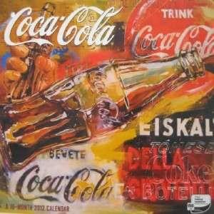 Coca Cola 16 Months COKE Artwork 2012 Wall Calendars 12 X 12 NEW