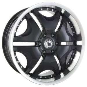 20x8.5 Konig Blix 2 (Black w/ Machined Lip) Wheels/Rims