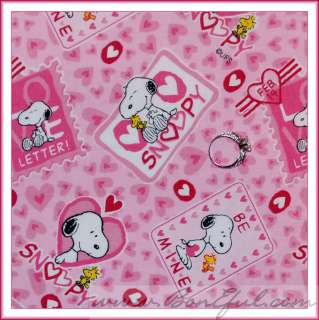 BOOAK Fabric OOP LOVE Heart Block Valentine Dot White HOt *PINK RED