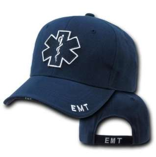Emergency Medical Technician EMT Cross EMS Paramedic Baseball Cap Hat
