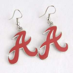 Alabama Crimson Tide Logo Wire Earrings: Sports & Outdoors