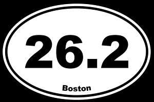 26.2 MARATHON BOSTON Vinyl Decal Car Window Sticker NEW