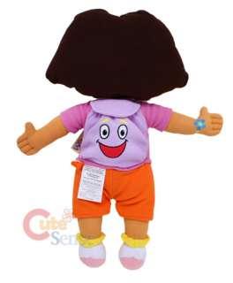 Dora Cuddle Plush Pillow Cushion Doll 26 w/ Mr. Bag
