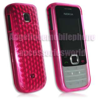 Diamond Pink GEL Skin Case Cover Protector Nokia 2730