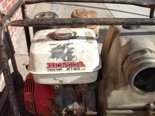 Honda WT40X 4 Construction Trash Water Pump with Suction and
